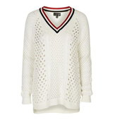 Topshop Open Stitch Cricket Jumper