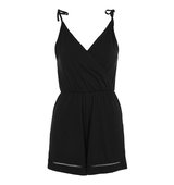 Topshop PETITE Wrap Trim Playsuit