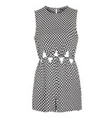 Topshop Polka Dot Cut Out Playsuit