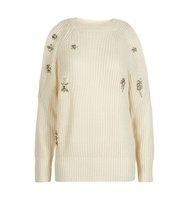 Topshop Ribbed Embellished Cold Shoulder Jumper