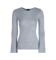 Topshop Salt and Pepper Flute Sleeve Jumper