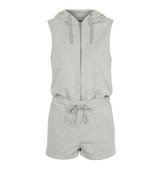 Topshop Sporty Hooded Playsuit