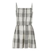 Topshop Strappy Check Playsuit
