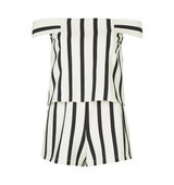 Topshop Stripe Bardot Playsuit
