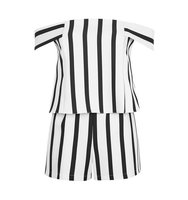 Topshop TALL Stripe Bardot Playsuit