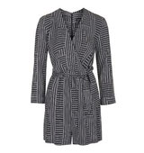 Topshop TALL Stripe Wrap Playsuit
