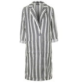 Topshop Textured Striped Duster Jacket