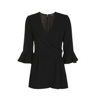 Topshop Trumpet Sleeve Playsuit