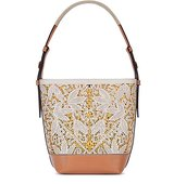 Tory Burch Floral Perforated Hobo