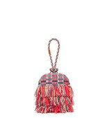 Tory Burch Frayed Tweed Dome Clutch