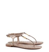 Tory Burch Marion Quilted Metallic Sandals