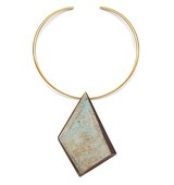 Tory Burch Oxidized Metal Collar Necklace