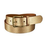 Uniqlo Leather Metallic Belt Gold