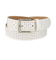 Uniqlo Leather Punched Belt Off White