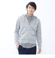 Uniqlo Men Sweat Full Zip Hoodie Size Xxl