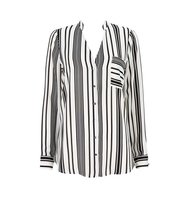 Wallis Black And White Monochrome Stripe Shirt
