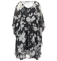 Evans Summer dress black white