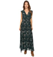 See by Chloe Georgette Floral Maxi Dress Frosty Green